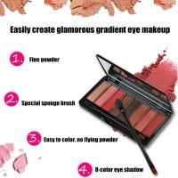 Palet Eyeshadow 8 Warna Peach / Peach / Peach