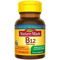 Nature Made Vitamin B12 500 mcg Tablets, 100 Count for Metabolic Healt