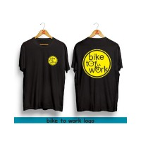 Kaos distro Logo Bike To Work distro sepeda lipat mtb Zuperone