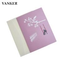 Kartu Ucapan Desain Cherry Blossom 3D dengan Amplop Warna Pink untuk