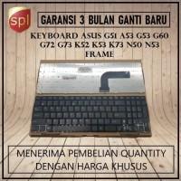 Keyboard Asus A53 G51 G53 G60 G72 G73 K52 K53 K73 N50 N53 Black Frame