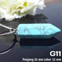 G11 Liontin Gemstone Batu Alam Akik Aksesoris Perhiasan Kalung Import