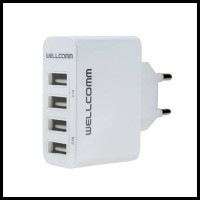 Travel Charger 4 port USB 4.2A Wellcomm