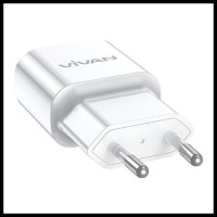 Adaptor Charger VIVAN POWER OVAL 3.0 Fast Charging Original