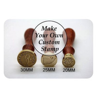 Custom Wax Seal Stamp / Stempel Segel Lilin - diameter 20 mm 25mm 30mm