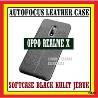 OPPO REALME X 6.53 INCH AUTOFOKUS LEATHER SOFTCASE KULIT JERUK 910553