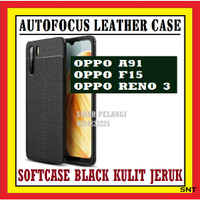 OPPO A91 F15 RENO 3 6.4 INCH AUTOFOKUS LEATHER CASE KULIT JERUK 910549