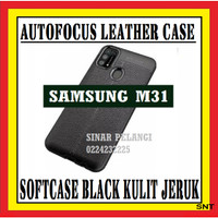 SAMSUNG M31 6.4 INCH AUTOFOKUS LEATHER SOFTCASE KULIT JERUK 910566