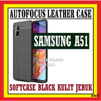 SAMSUNG A51 6.5 INCH AUTOFOKUS LEATHER SOFTCASE KULIT JERUK 910562