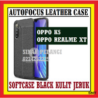 OPPO REALME XT 6.4 INCH AUTOFOKUS LEATHER SOFTCASE KULIT JERUK 910555
