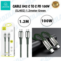 USAMS U42 KABEL CHARGER USB C TO C / DATA CABLE TYPE C TO TYPE C 100W