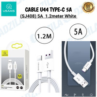 USAMS U44 KABEL CHARGER USB TYPE C DATA CABLE FAST QUICK CHARGING 5A
