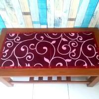 Taplak meja tamu motif diandra maroon 40x90 cm
