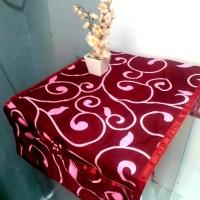 sarung kulkas motif - dianra maroon