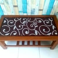 Taplak meja tamu motif diandra coklat 40x90 cm