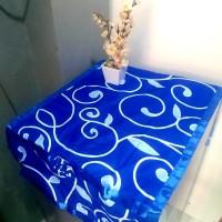sarung kulkas motif - diandra biru
