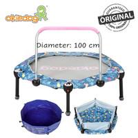 OkieDog Trampoline 3-in-1 Foldable 100 cm Mandi Bola, Pool - No Box