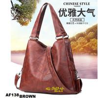 TAS TOTE BAG Tas wanita import set tas bahu tas selempang kulit PU 129