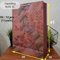 Paper Bag / Tas Kertas Batik XL motif Burung Uk.29x10x41 (1 lsn)
