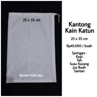 Kantong Kain Saringan Kopi, Teh, Susu Kacang , dll ( 25 x 35 )