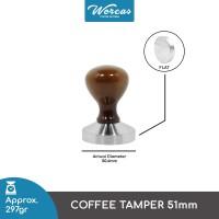 Coffee Tamper 51mm Wood Handle - TP19