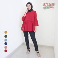 Blouse Baju Ibu Hamil Menyusui Polos Muslim Casual Kerja - BLJ 462
