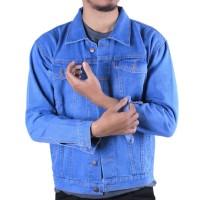 Jaket Jeans Pria Warna Biru Muda Warna Hitam Warna Biru Dongker - J010 - Hitam, L