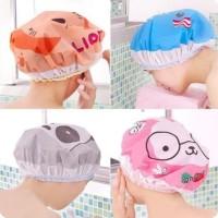 Shower cap karakter penutup kepala anti air /topi keramas