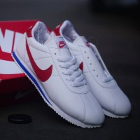Sepatu Sneakers Nike Cortez White Red Import Quality