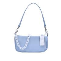 Tas Selempang Bahu Armpit Baguette Jennie handbag Korean style Akrilik - Biru Muda