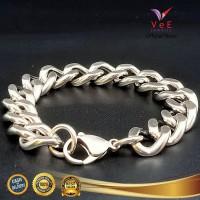 Gelang Titanium Anti Karat Model Rantai Besar - VeE Bracelet Pria