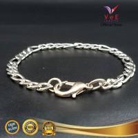 Gelang Titanium Anti Karat Model Rantai Kecil - VeE Bracelet Pria