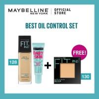Maybelline Fit Me Matte & Poreless Liq Foundation 128 Warm Nude + Baby