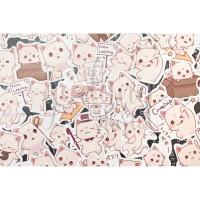 Stiker Kucing Kipas Cat Lucu DIY Scrapbook Sticker GH 303353