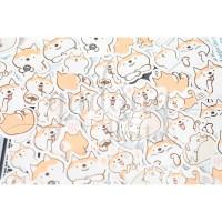 Stiker Anjing Menari Shiba Inu DIY Scrapbook Sticker GH 303349