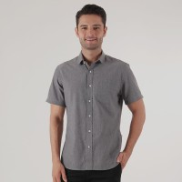 Edwin Jeans Oxford Shirt Lengan Pendek Oxford Black