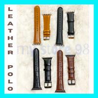 Apple watch Strap Genuine Leather POLO 42mm 44mm - Hitam Corak