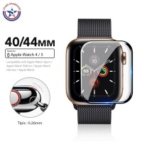 Tempered Glass iWatch 40mm 44mm AntiGores APPLE Watch 4 5 Full Cover