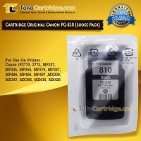 Cartridge Tinta Canon PG810 catridge PG 810 Black ORIGINAL LOOSEPACK - Loosepack