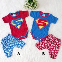 Baju Setelan Set Jumper Anak Bayi Baby Laki Laki Superman Superhero