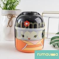 RUMAUMA Lunch Box Girl Kawai Bento - Kotak Makan Rantang 2 Susun Anak