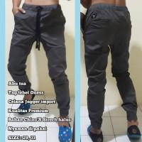 Celana Jogger Unisex / Celana Guess import Premium / Bahan Chino'S B
