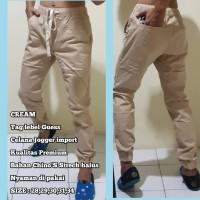 Celana Jogger Unisex / Celana Guess import Premium / Bahan Chino'S