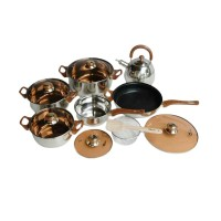 Oxone Eco Cookware Set   Panci Set OX-933 - Stainless Steel