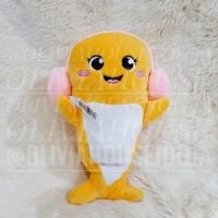 boneka ikan kuning boneka dolphin headset boneka lumba kuning cute