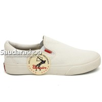Sepatu Warrior Arthur White / Sepatu Warrior Slip On Putih / Warrior