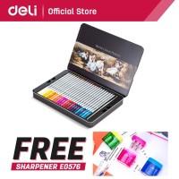 DELI - 6523 / Pensil Warna Ajaib Isi 48 / Alat Lukis Murah Berkualitas
