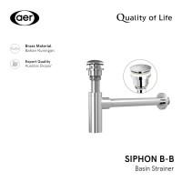 AER Brass Pop Up Sifon Pembuangan Air Washtafel - Siphon BB