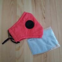 Masker PM 2.5 Single Valve 1 Katup + 1 Pcs Filter PM 2.5 - Watermelon