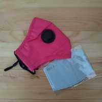 Masker PM 2.5 Single Valve 1 Katup Udara + 1 Pcs Filter PM 2.5 - Rose